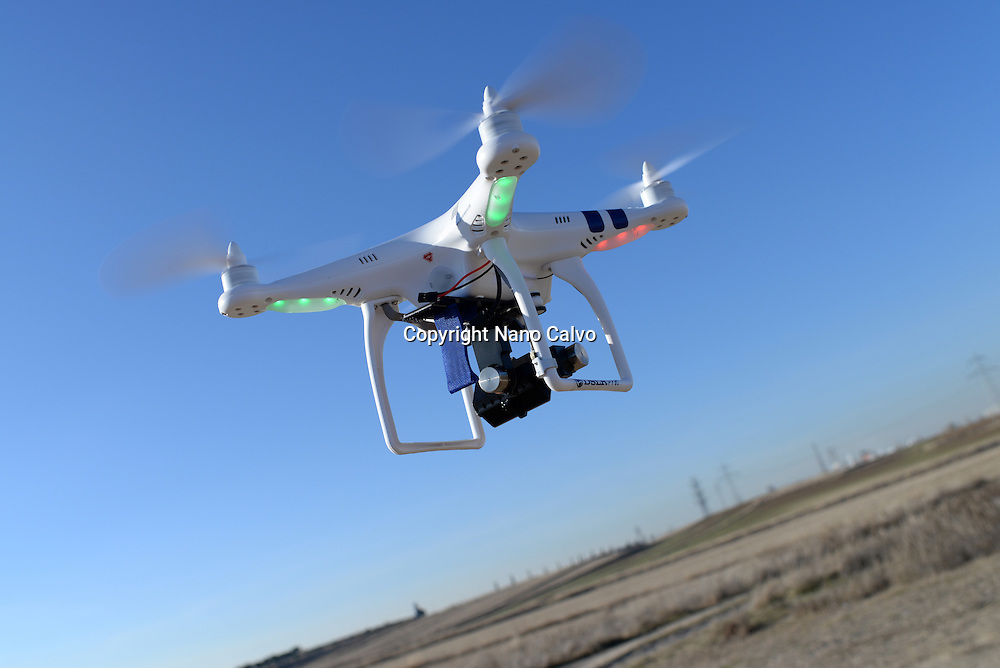 Phantom Drone in flight