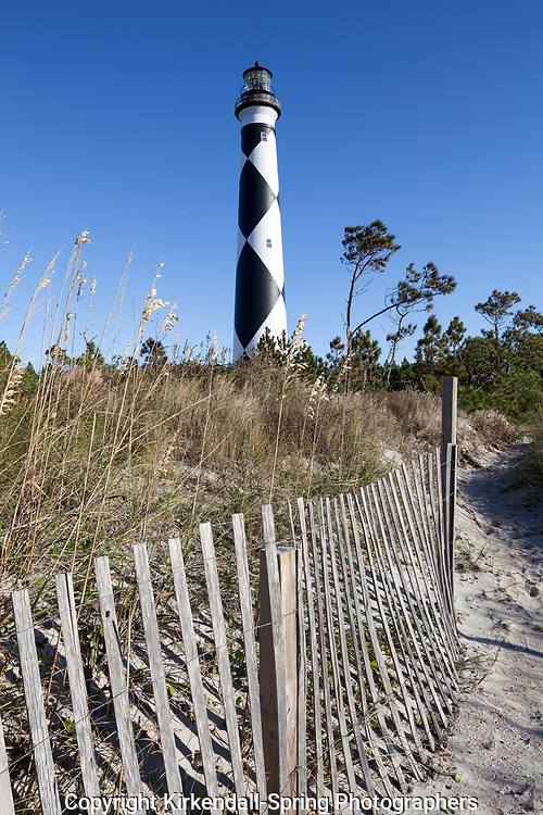 NC00875-00....NORTH CAROLINA - Cape Lookout Lighthouse on the South Core Banks in Cape Lookout National Seashore.