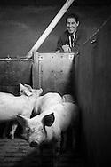 22/12/16 - LA BESSEYRE SAINT MARY - HAUTE LOIRE - FRANCE - Portrait d Etienne COMBOURIEU - Photo Jerome CHABANNE