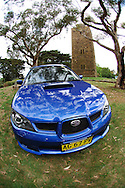2005 MY06 Subaru Impreza WRX Hatch - World Rally Blue .Kangaroo Ground Tower of Remembrance.War Memorial Park, Kangaroo Ground, Victoria.9th of December 2005 .(C) Joel Strickland Photographics.Use information: This image is intended for Editorial use only (e.g. news or commentary, print or electronic). Any commercial or promotional use requires additional clearance.