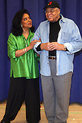 "Phylicia Rashad and James Earl Jones, at "" Cat on a Hot Tin Roof "" Press conference announcing limited broadway run,  at Broad Hurst Theater on January 8, 2008 in New York City"