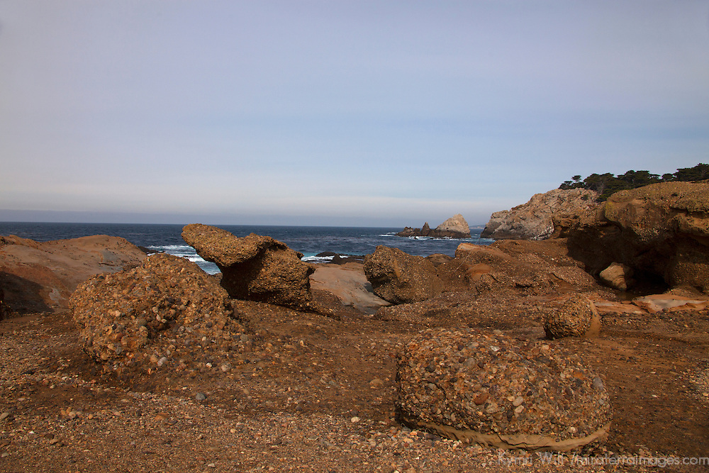 USA, California, Point Lobos. Rocks at Point Lobos State Reserve.