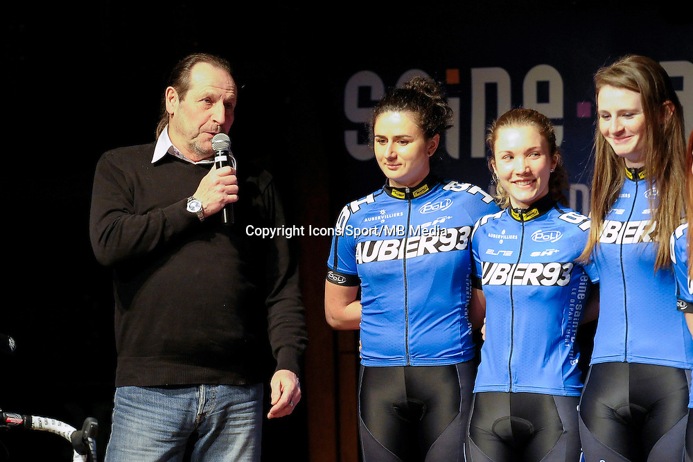 Jackie Millet - 23.01.2015 - Presentation Auber 93<br />Photo : Andre Ferreira / Icon Sport