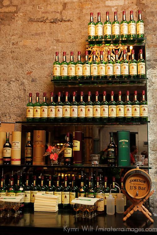 Europe, Ireland, Dublin. Jameson Whiskey display at the Old Jameson Distillery.