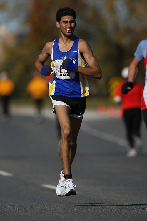 (Ottawa, ON---18 October 2008) SAHEED KHAN competes in the 2008 TransCanada 10km Canadian Road Race Championships. Photograph copyright Sean Burges/Mundo Sport Images (www.msievents.com).