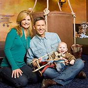Dayna Devon, husband Brent Moelleken and son Cole