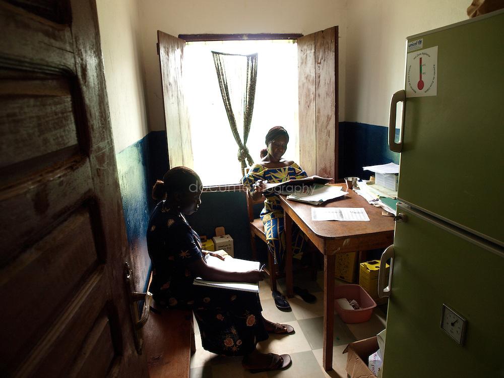 Nurses at work in Kingsville clinic, Kingsville #7, Liberia.