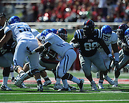Ole Miss defensive tackle Ted Laurent (99) at Vaught-Hemingway Stadium in Oxford, Miss. on Saturday, October 2, 2010. Ole Miss won 42-35 to improve to 3-2..