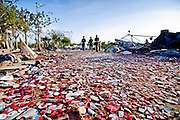 Rescue Team walking on the remains of the destroyed factory. Image © Balaji Maheshwar/Falcon Photo Agency