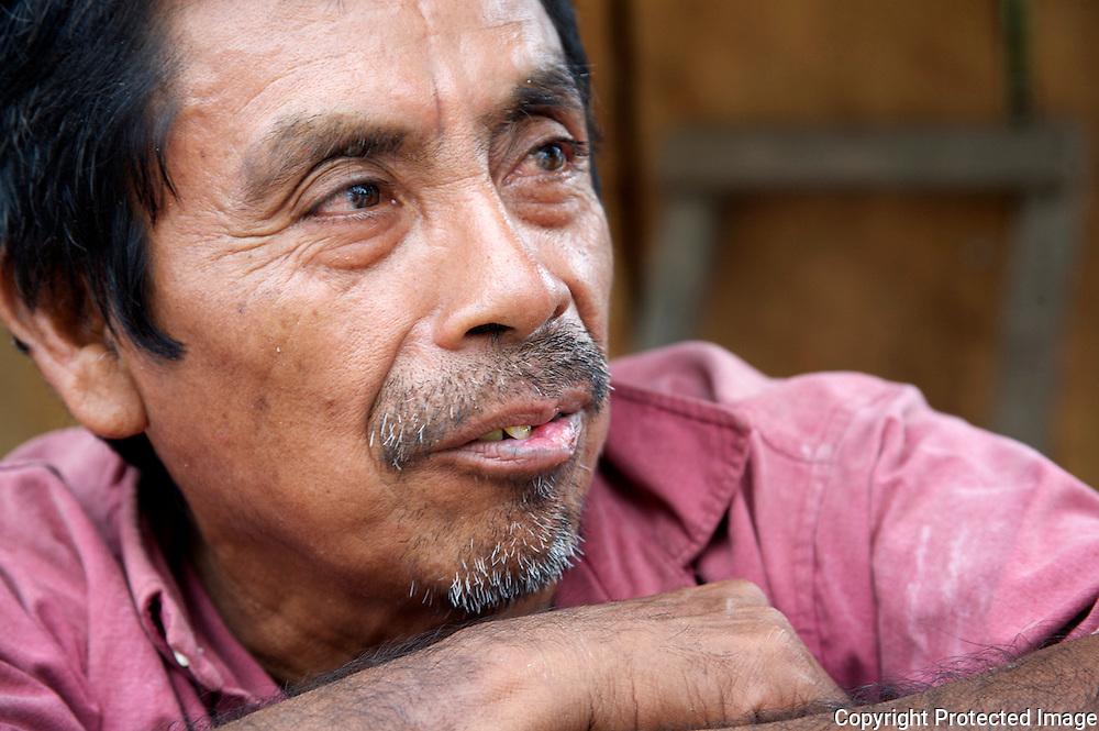 Portrait of Mayan elder in Guatemala, Don Pedro.