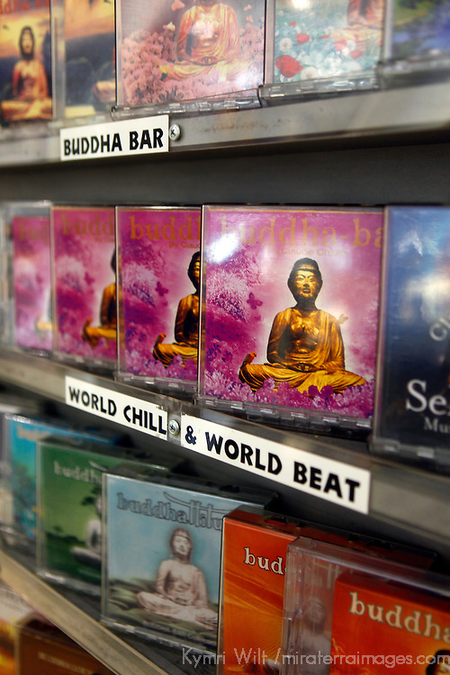 USA, California, Los Angeles. Buddha Bar CDs at Amoeba Music Store in Hollywood.