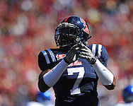 Ole Miss defensive end Wayne Dorsey (7) at Vaught-Hemingway Stadium in Oxford, Miss. on Saturday, October 2, 2010. Ole Miss won 42-35 to improve to 3-2..