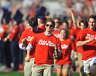 Ole Miss freshmen participate in the Rebel Run before the start of the game against Southern Illinois at Vaught-Hemingway Stadium in Oxford, Miss. on Saturday, September 10, 2011. Ole Miss won 42-24.