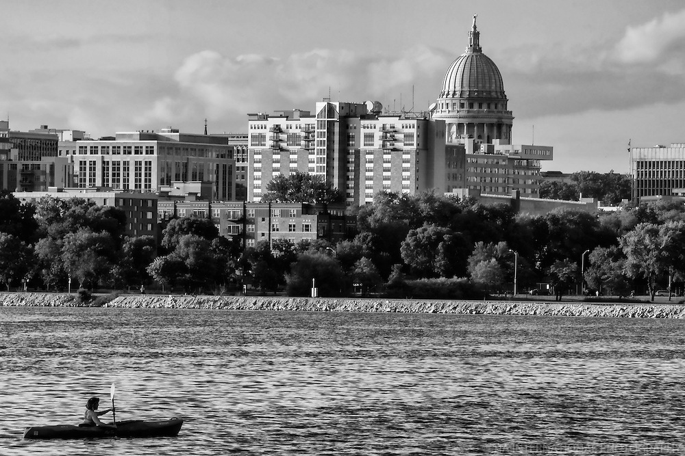 City Skyline on Monona Bay