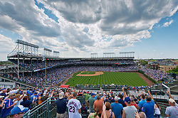 May 29, 2012; Wrigley Field as seen from a rooftop<br /> <br /> Photo by Matt Cashore