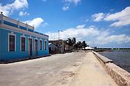 Malecon in Puerto Padre, Las Tunas, Cuba.