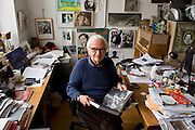 Cinematographer Albert Maysles at his Harlem office ..Albert Maysles and his brother David Maysles became famous for their documentary films like Grey Gardens, Salesman, Meet Marlon Brando and Gimme Shelter, the landmark documentary about the Rolling Stones on their notorious 1969 US tour. The Maysles Brothers also collaborated with Christo and Jeanne-Claude on many of their films. Today Albert Maysles works on new projects with the help of his daughters Sara and Rebekah Maysles. The company, named Maysles Films, is located in Harlem...©Stefan Falke.