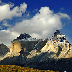 Mountains landscape in Torres del Paine national park, Chile