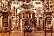Stiftsbibliothek, Barock Library, City of St.Gallen, St.Gallen Canton, Switzerland,