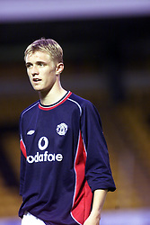 Darren Fletcher plays in a Livingstone V Man Utd XI match in 2000.