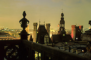 Paris at the top. Paris view from bell towers stories