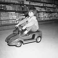Electric Car Race at Supermarkets.30/10/1971