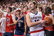 Gonzaga fell to BYU 79-71 on Senior Night to end their undefeated streak. (Photos by Edward Bell and Zack Berlat)
