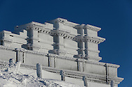 29/12/14 - SOMMET DU PUY DE DOME - PUY DE DOME - FRANCE - Le Temple de Mercure - Photo Jerome CHABANNE