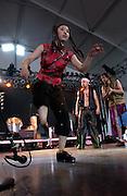 Manchester, TN.  2003 Bonnaroo Music Festival. Cyro Baptista's Beat The Donkey performs at Bonnaroo 2004. Mandatory Credit: Bryan Rinnert/3Sight Photography..