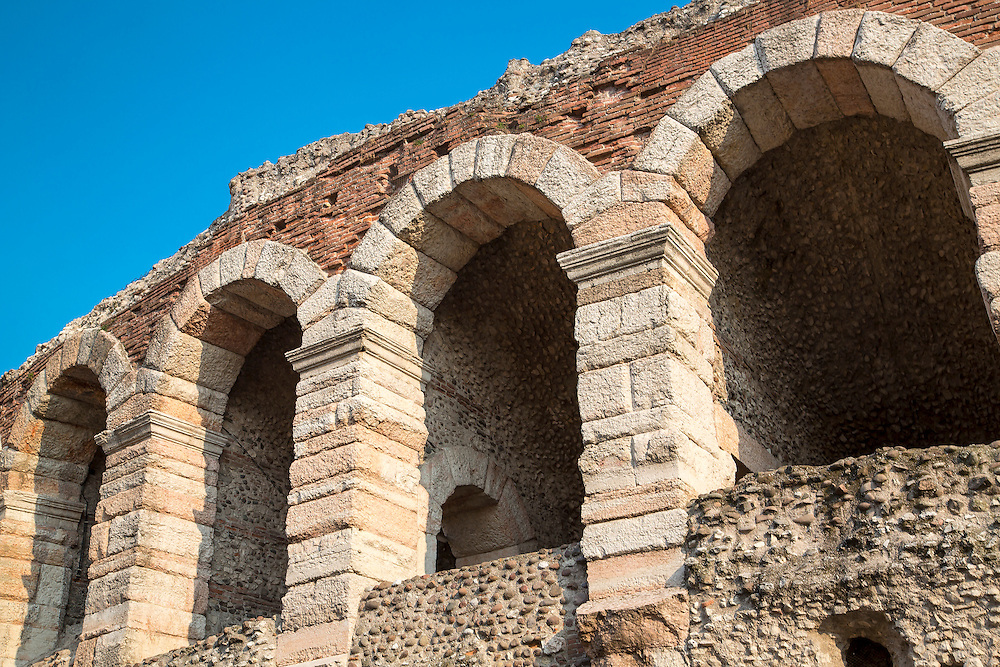The Roman Arena in Verona now used as an entertainment venue