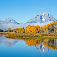 Oxbow Bend in Grand Teton National Park with reflection