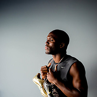 6/12/12 6:17:18 PM -- Bradenton, FL. -- Olympian LaShawn Merritt, who competes in the 400 meters, poses for a portrait at the IMG Performance Institute in Bradenton, Florida. ...Photo by Chip J Litherland, Freelance.