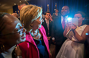 Democratic presidential hopeful Hillary Rodham Clinton greets supporter and poses for photos after a Hillary For American Discussion with Mayors and Local Official event, Thursday, July 23, 2015 in Columbia, S.C. Clinton talked about what she said was a lack of educational and economic opportunities, and a criminal justice system that treats blacks more harshly than whites. (AP Photo/Stephen B. Morton)