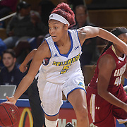 Delaware Forward MAKEDA NICHOLAS (5) dribbles down the floor in the second half of a Colonial Athletic Association regular season basketball game between Delaware and College of Charleston Sunday, Jan. 22, 2017 at The Bob Carpenter Sports Convocation Center in Newark, DEL
