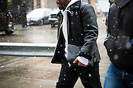 Leather Shearling Jacket, NYFWM Day 2