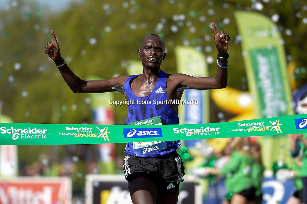 Mark Korir - 12.04.2015 - Marathon de Paris 2015<br />Photo :  Andre Ferreira  / Icon Sport
