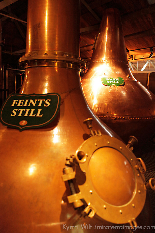 Europe, Ireland, Dublin. Feints Still and Wash Still at Jameson Distillery.