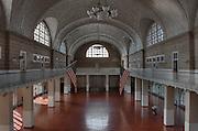 North side of Ellis Island, Main Building, circa 1900..High Definition Range (HDR) image.