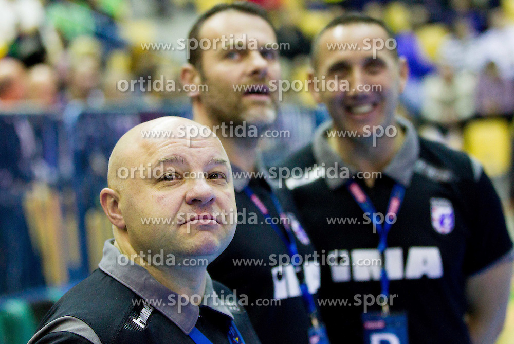 Boris Dvorsek, head coach of HC Zagreb during handball match between RK Celje Pivovarna Lasko and RK Croatia Osiguranje Zagreb in Round 7 of Group A of EHF Men's Champions League 2013/14, on November 30, 2013 in Arena Zlatorog, Celje, Slovenia. Photo by Vid Ponikvar / Sportida