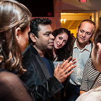 Composer A. R. Rahman meets fans after he was honored at Boston Symphony Hall by Berklee College of Music.