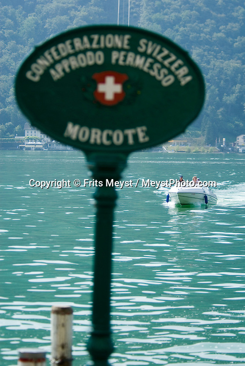 Morcote, Ticino, Switzerland, August 2009. The village of Morcote on Lago di Lugano Lake. Ticino is the subtropical canton of switzerland where Italian is the first language. Photo by Frits Meyst/Adventure4ever.com
