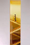 Stairs, Museum of Modern Art, addition Designed by Yoshio Taniguchi, New York City, New York