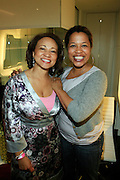 """l to r: Danyelle Smith and Collen Wilson at The Bombay Sapphire & Vibe Magazine Present Ashanti's """"The Declaration"""" A Listening Party held at The W Hotel (West Street) on June 4, 2008"""