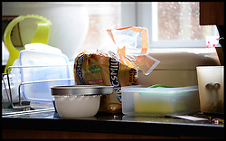 A loaf of bread sits on the worktop in the kitchen, April 13, 2013. Photo By Andrew Parsons / i-Images
