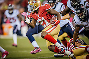 SAN FRANCISCO, CA - October 6: Frank Gore #21 of the San Francisco 49ers rushes during the game against the Houston Texans at Candlestick Park on October 6, 2013 in San Francisco, California. The 49ers defeated the Texans 34-3. (Photo by Jean Fruth/San Francisco 49ers