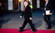 24-3-2014 THE HAGUE  - Arrival of King Abdoellah II van Jordanië for the NSS summit  diner at the Palace Huis ten Bosch . COPYRIGHT ROBIN UTRECHT