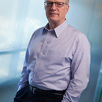 Portrait of Sir Ken Robinson, renowned author educator and speaker, in his Los Angeles office.