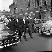 1970 - Haughey and Boland leave the Bridewell.