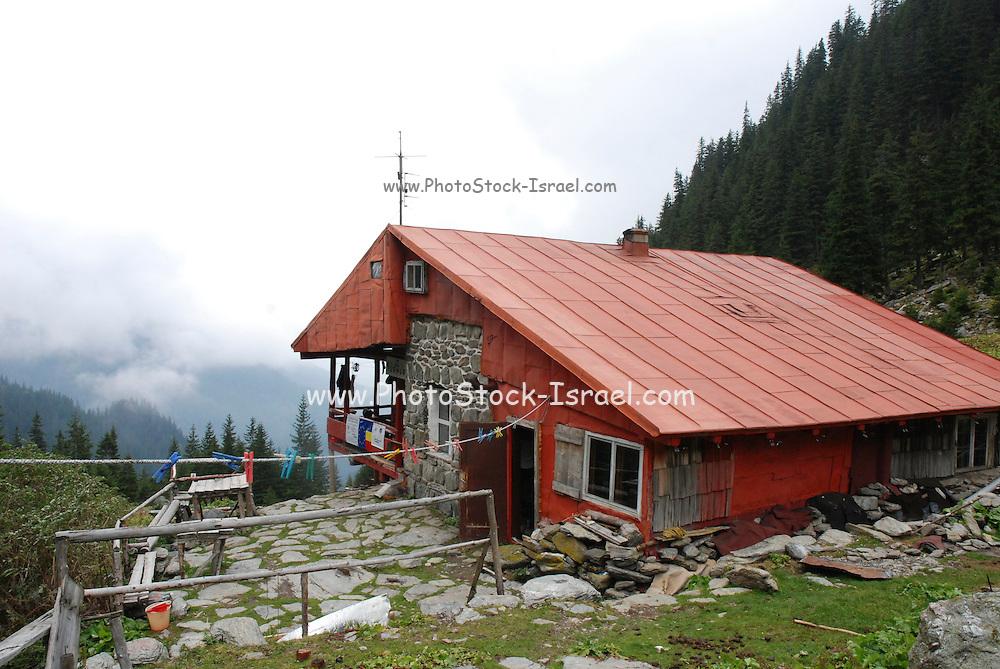 Romania, mountain lodge