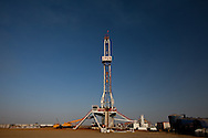 An oil rig in Upper Nile State, Southern Sudan's most productive oil area.